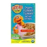 Earth's Best -  Organic Yummy Tummy Instant Oatmeal Apple & Cinnamon 0023923900431
