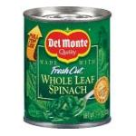 Del monte -  Whole Leaf Spinach 0024000014904