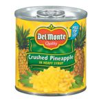 Del monte -  In Heavy Syrup Pineapple Crushed 0024000015987