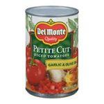 Del monte -  Del Monte Petite Cut Garlic & Olive Oil Diced Tomatoes  0024000016533