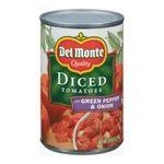 Del monte -  Del Monte Diced Tomatoes with Green Pepper & Onion  0024000017394