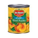 Del monte -  Yellow Cling In Extra Light Syrup Peaches Sliced Lite 0024000017455