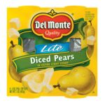 Del monte -  In Extra Light Syrup Pears Diced Lite 0024000025603
