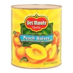 Del monte -  Peach Halves From California Yellow Cling In Light Syrup 35 Can 0024000116868
