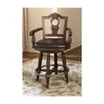 Ashley Furniture - Dark Brown Tall Upholstered Swivel Barstool by Ashley Furniture 0024052034189  / UPC 024052034189