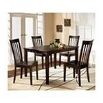 Ashley Furniture - Red Brown Dining Room Table Set (Table and 4 Chairs) by Ashley Furniture 0024052055498  / UPC 024052055498