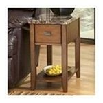 Ashley Furniture - Light Brown Chairside End Table by Ashley Furniture 0024052110838  / UPC 024052110838