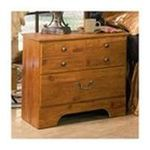 Ashley Furniture - Two-Drawer Nightstand Pine Finish by Ashley Furniture 0024052219920  / UPC 024052219920