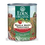 Eden Foods -  Whole Roma Tomatoes 0024182011128