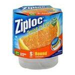 Ziploc - Ziploc Containers & Lids, Small, Round, 3 containers 0025700180364  / UPC 025700180364