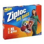 Ziploc - Ziploc Big Bag Double Zipper, X-Large, 4-Count 0025700656449  / UPC 025700656449