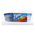 Ziploc - Ziploc Container, Divided Rectangle, 2-Count(Pack of 2) 0025700702313  / UPC 025700702313