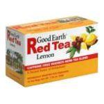 Good Earth - Red Tea Lemon Caffeine Free Rooibos Herb Tea Blend 0027018303107  / UPC 027018303107
