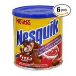 Nesquik - Powdered Strawberry Drink Container 0028000361303  / UPC 028000361303