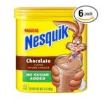 Nesquik - Chocolate Powder No Sugar Added Packages 0028000803209  / UPC 028000803209