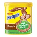 Nesquik - Nesquik Chocolate No Sugar Added Powder Flavored Milk Additive 0028000813208  / UPC 028000813208