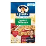 Quaker - Instant Oatmeal Apples & Cinnamon 0030000013809  / UPC 030000013809