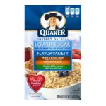 Quaker - Instant Oatmeal Lower Sugar Variety Pack 0030000014998  / UPC 030000014998
