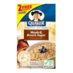 Quaker - Instant Oatmeal Maple Brown Sugar 18 0030000019160  / UPC 030000019160