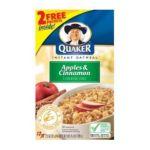 Quaker - Instant Oatmeal Apple Cinnamon Bonus Pk 0030000019191  / UPC 030000019191