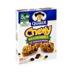 Quaker - Granola Bars Chewy 90 Calorie Oatmeal Raisin 0030000055670  / UPC 030000055670