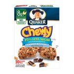 Quaker - Granola Bars 2 boxes,10 bars ea 0030000055847  / UPC 030000055847
