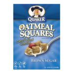 Quaker - Crunchy Oatmeal Squares With Hint Of Brown Sugar Cereal 0030000065709  / UPC 030000065709