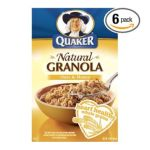 Quaker - 100% Natural Granola Cereal Oats & Honey Boxes 0030000066409  / UPC 030000066409