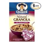 Quaker - 100% Natural Granola Cereal Oats Honey & Raisins Boxes 0030000066805  / UPC 030000066805