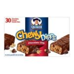 Quaker - Chewy Dipps Chocolate Chip Granola Bars 0030000095065  / UPC 030000095065