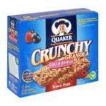 Quaker - Crunchy Granola Snack Bars 0030000096734  / UPC 030000096734