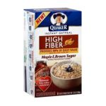 Quaker - Instant Oatmeal High Fiber Maple & Brown Sugar 0030000261903  / UPC 030000261903