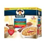 Quaker - Instant Oatmeal Flavor Multi Maple Brown Sugar Apple Cinnamon Cinn Spice Original Box 0030000310601  / UPC 030000310601