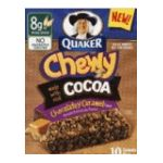 Quaker - Chewy Granola Bars Chocolately Caramel 0030000311547  / UPC 030000311547