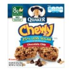 Quaker - Chewy 25% Less Sugar Granola Bar 0030000311752  / UPC 030000311752