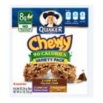 Quaker - Chewy 90 Calorie Granola Bar Variety Pack 6.7 0030000311837  / UPC 030000311837