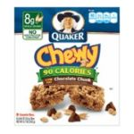 Quaker - Granola Bars 90 Calories Chocolate Chunk 0030000311868  / UPC 030000311868