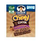 Quaker - Chewy Granola Bars Cocoa Chocolate Caramel 0030000311912  / UPC 030000311912