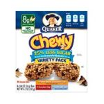 Quaker - Chewy Granola Bars Reduced Sugar Variety 0030000311943  / UPC 030000311943