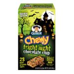 Quaker - Chewy Fright Night Chocolate Chip Mini Granola Bars With Candy Pieces 0030000312575  / UPC 030000312575