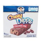 Quaker - Chewy Dipps Chocolate Chip Granola Bars 0030000312698  / UPC 030000312698