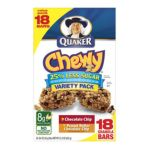 Quaker - Chewy Chocolate Chip And Peanut Butter Chocolate Chip Granola Bars 0030000450109  / UPC 030000450109