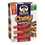 Quaker - Chewy Granola Bars Sixty Bar Variety Pack 0030000450185  / UPC 030000450185