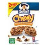 Quaker - Chewy Granola Bars Peanut Butter Chocolate Chunk 0030000452066  / UPC 030000452066