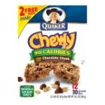 Quaker - Chewy Granola Bars Chocolate Chunk 0030000452080  / UPC 030000452080