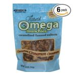 Good Sens Snacks -  Good Sense Omega Munchies Caramelized Flaxseed Walnuts Cinnamon Bags 0030243821018