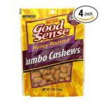 Good Sens Snacks -  Trail Mixes Nuts & Seeds Cashews Honey Roasted 0030243860703