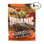 Good Sens Snacks -  Good Sense Organic Dried & Unsulfured Apricots 0030243876506