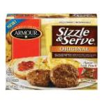 Armour - Sizzle And Serve Patties 0030900825632  / UPC 030900825632