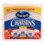 Ocean Spray - Ocean Spray Craisins Three Flavors 0031200294623  / UPC 031200294623